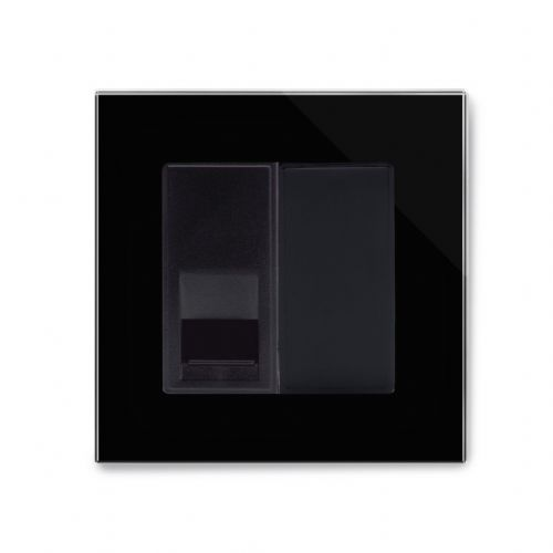 RetroTouch Single BT Master Socket Black Glass PG 04084